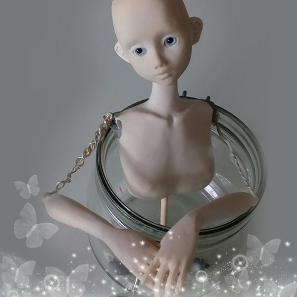 Kallispe creation process: Doll from polymer clay