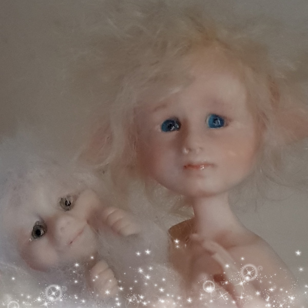 Little elfin boy with blue eyes