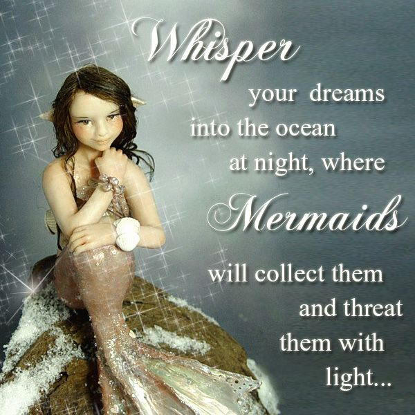 Handmade magical winter mermaid