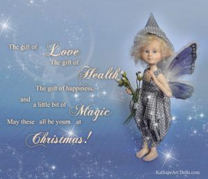 Magical Christmas wishes from Blue Elfin boy
