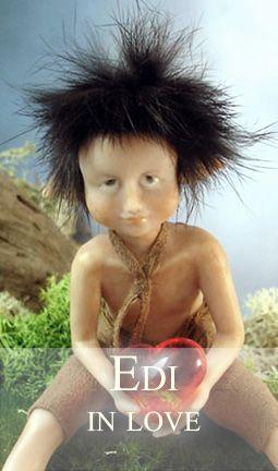 Elfin-boy with heart in his hands